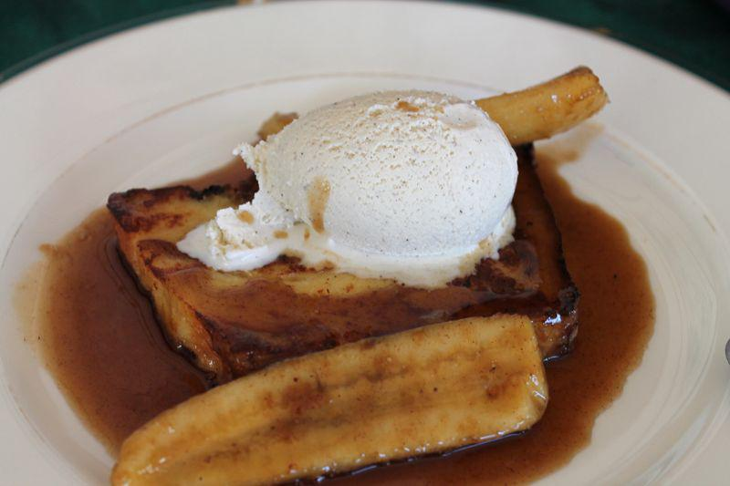 French Toast with Rare Hawaiian Organic Winter Honey Banana Foster