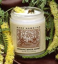 Rare Hawaiian Organic White Honey.