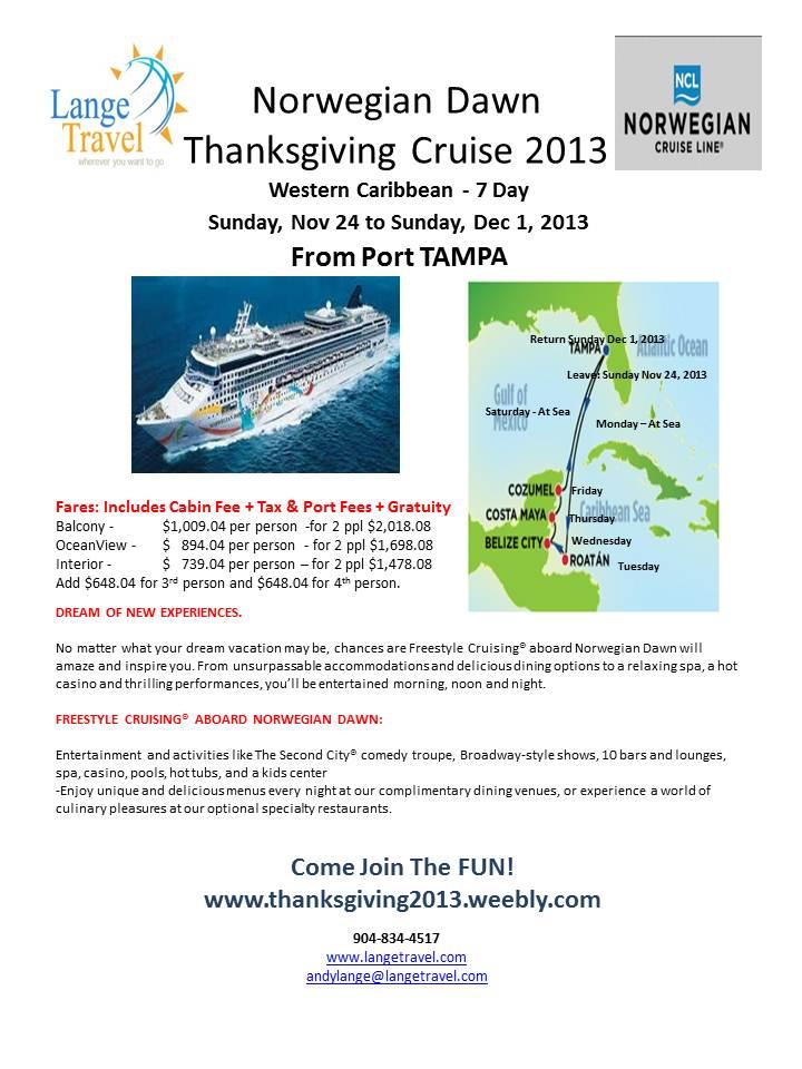 Thanksgiving 2013 Cruise