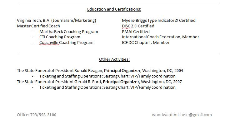 Do certifications go under education resume