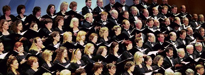 Minnesota Chorale in performance at Orchestra Hall