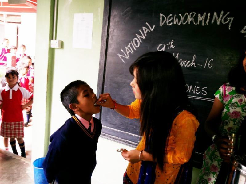 India deworming