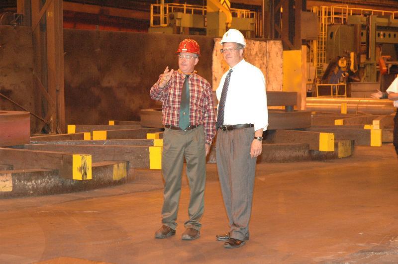 Congressman Hultgren & Spring Grove Plant Manager, Craig Weidner