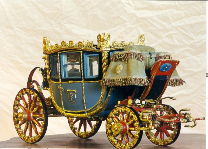 24kt Oil Gilded Miniature Carriage