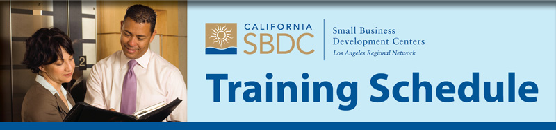 SBDC Training Schedule