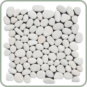 White Rapids Pebble Tile