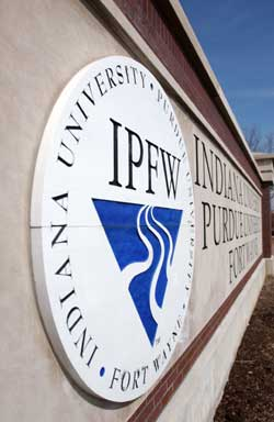 IPFW entrance marker