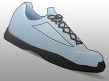 Blue Tennis Shoe