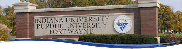 IPFW Entrance Sign