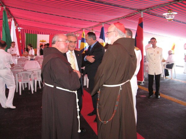 Provincial-elect Antonio Nardoianni with Cardinal Sean O'Malle, OFM Cap.