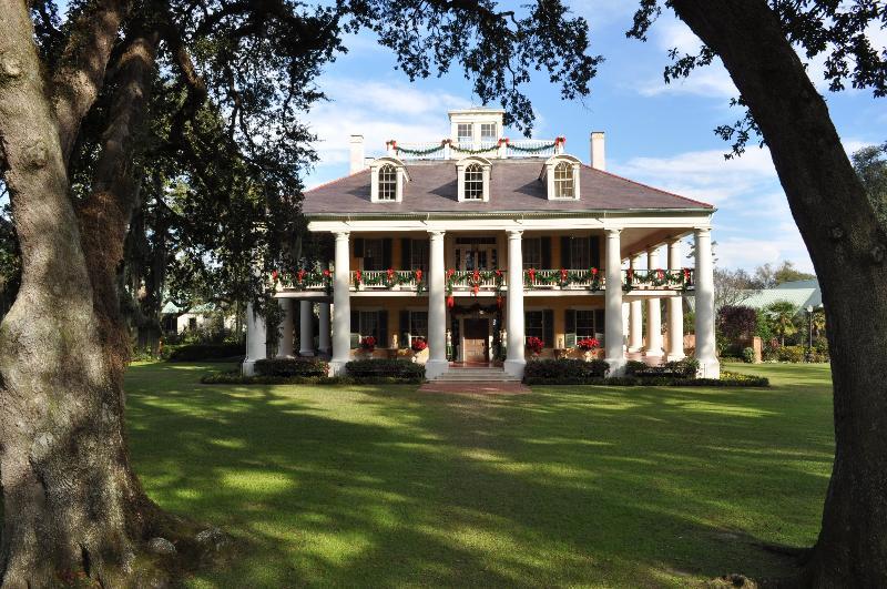 Mansion at Christmas
