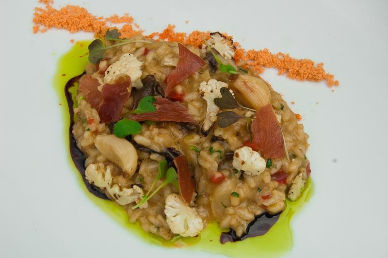 Cauliflower and Mushroom Risotto