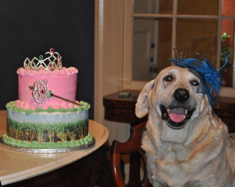 Grace with her cake