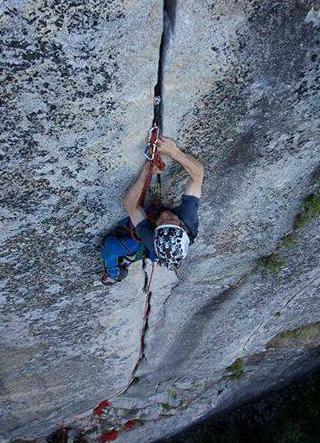 Sean Lead Climbing