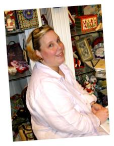 Julia Snyder,  Needlepoint instructor
