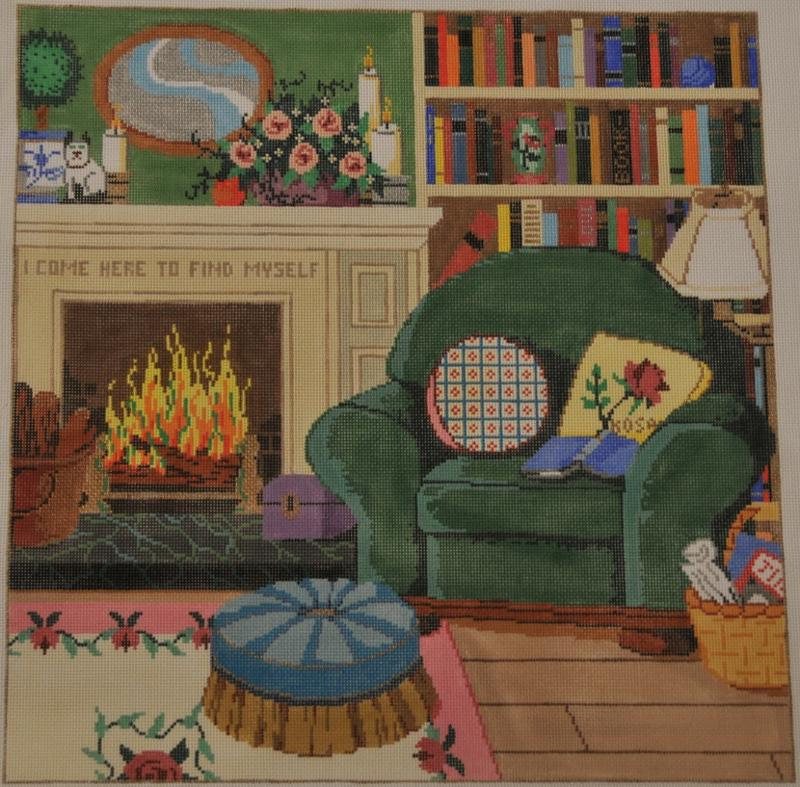 library needlepoint canvas