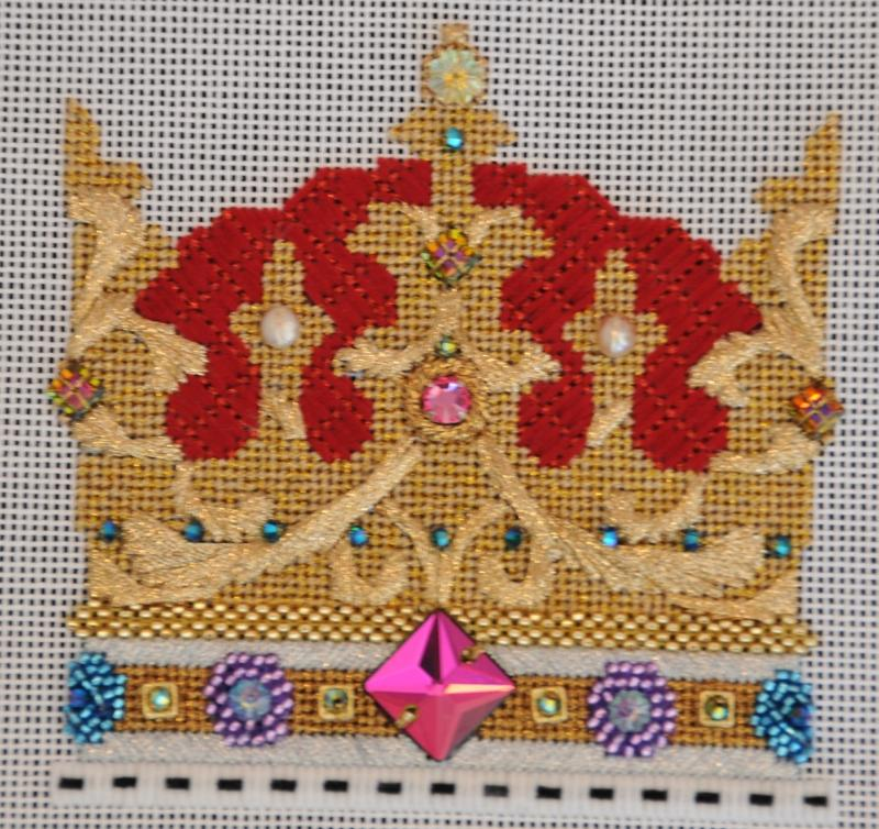 crown needlepoint canvas 2