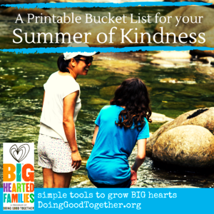 DGT Summer Kindness Bucket List.