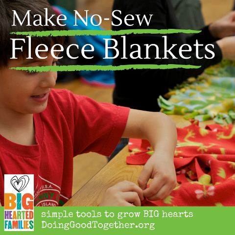 Make No-Sew Fleece Blankets