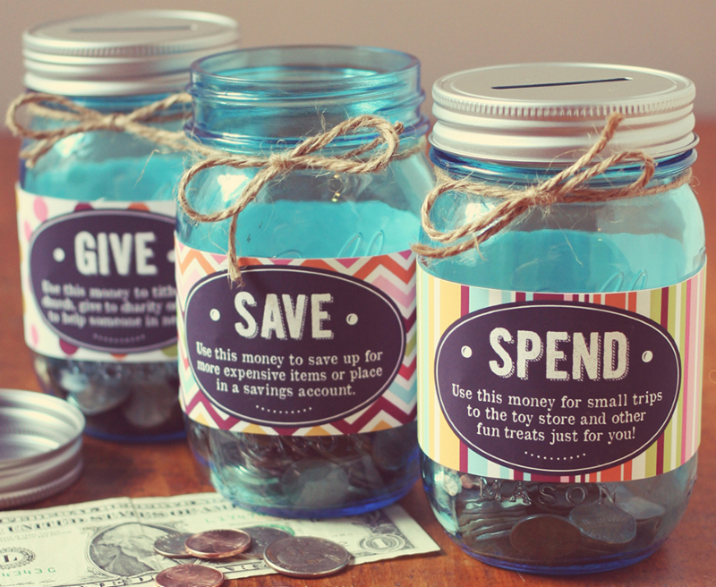 Share Save Spend Jars
