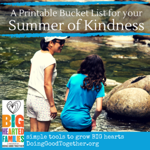 Summer Kindness Bucket List