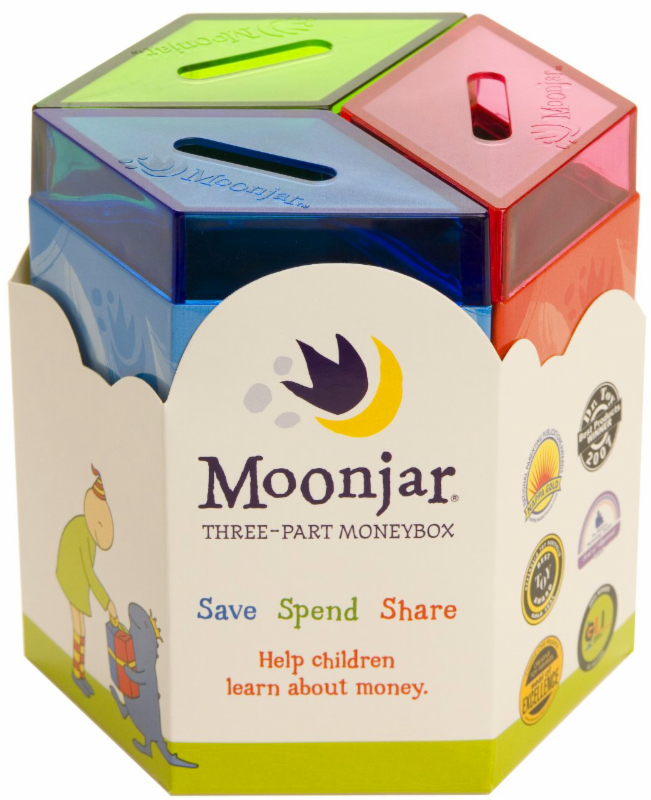 Moonjar Moneybox Save Spend Share