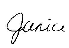 Janice signature
