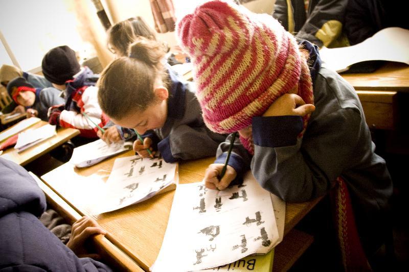 Girl studying in Lebanon classroom