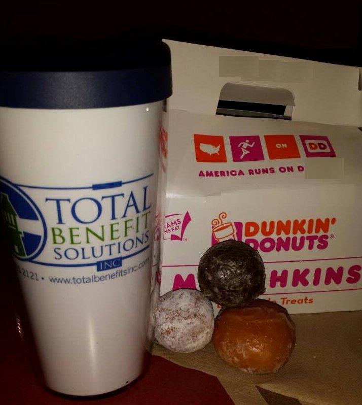 Donut Holes & Total Benefits Mug