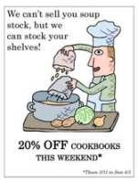 cookbook sale sign