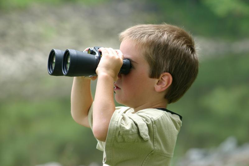 Kid & Binoculars