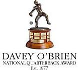 Davey O'Brien Logo National Quarterback award Est. 1977