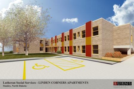 Rendering of Linden Corners Apts