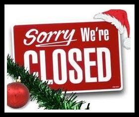 Closed for Xmas Holiday