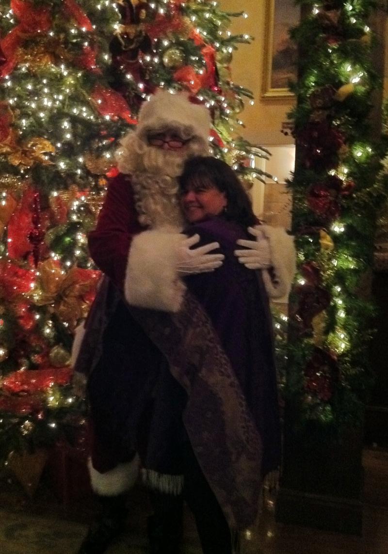 Kathy and Santa