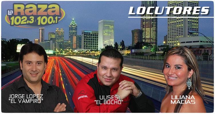 LOCUTORES DE LA RAZA 102.3 FM ATLANTA