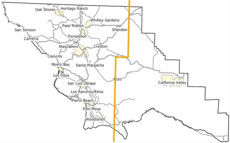 Map eastern slo