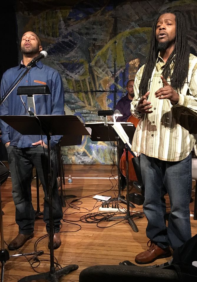 Poets Blk Smith and Julius Hall
