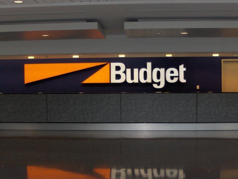 Budget Rent-A-Car LED Channel Letters
