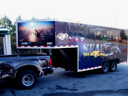 US Navy Recruitment Trailer Wrap Side Front