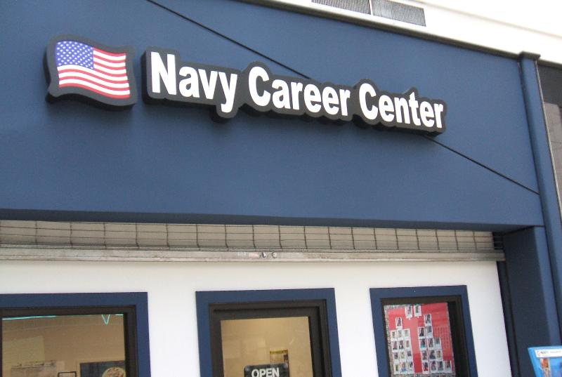 Navy dimensional letters