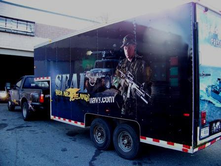 US Navy Recuitment Trailer Wrap Side Back