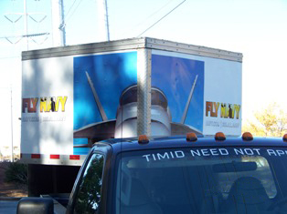 Rejected US Navy Recruitment Trailer Wrap done by Another Sign Company