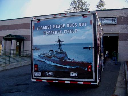 US Navy Recruitment Trailer Wrap Back