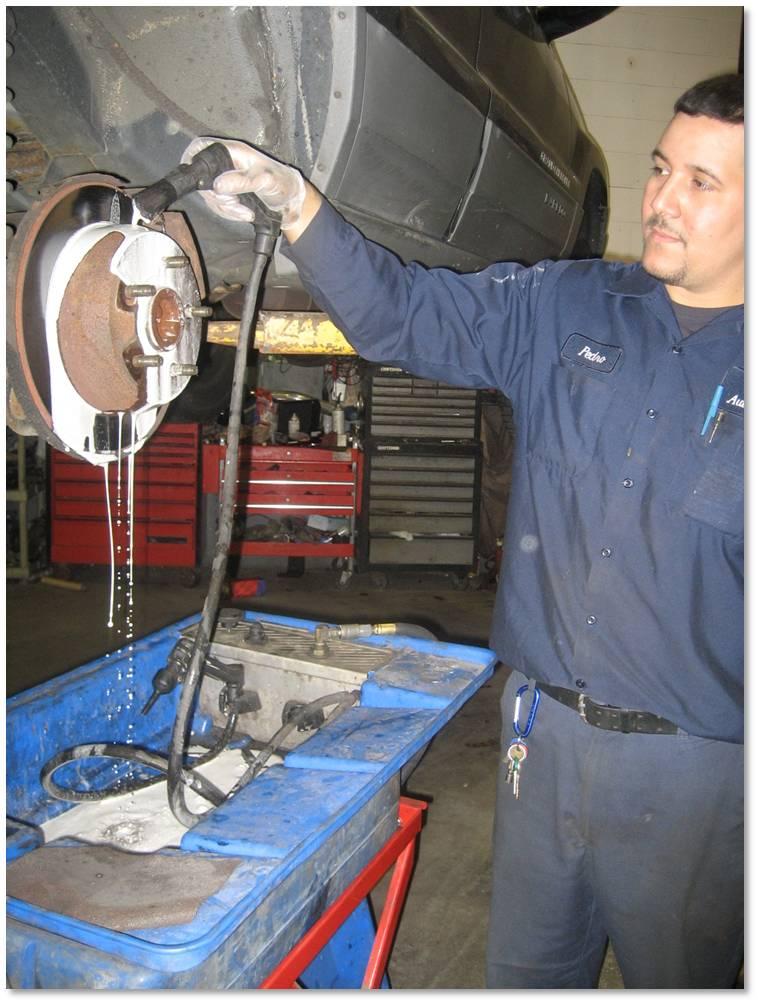 Water-based brake cleaning
