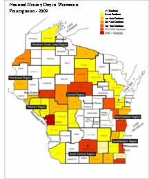 2009 NHD in WI Map