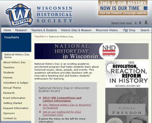 NHD in Wisconsin Website