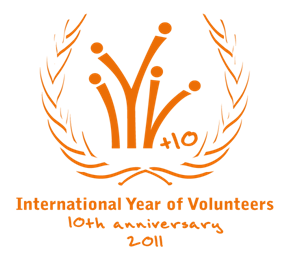 Year of the Volunteer Logo