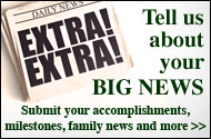Tell Us Your News!