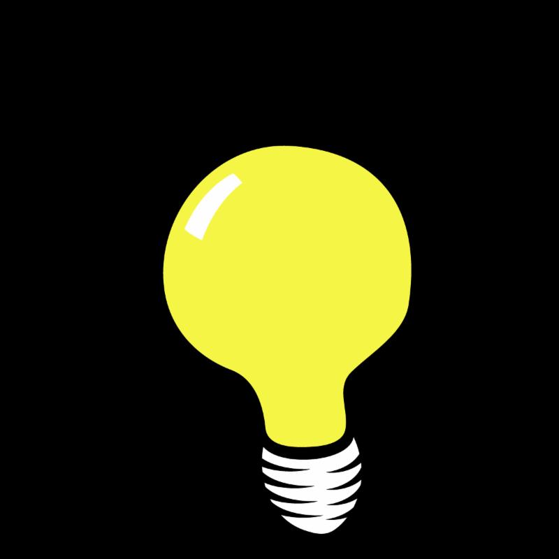 Lightbulb transparent  background